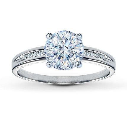 Diamond Ring Setting 1/15 ct tw Round-Cut 14K White Gold