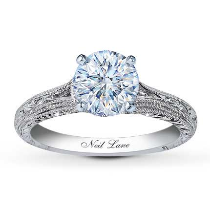 Neil Lane Ring Setting 1 8 Ct Tw Diamonds 14k White Gold