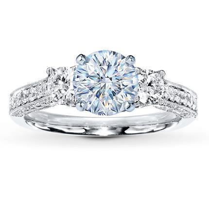 Diamond Ring Setting 34 ct tw Roundcut 14K White Gold Jared