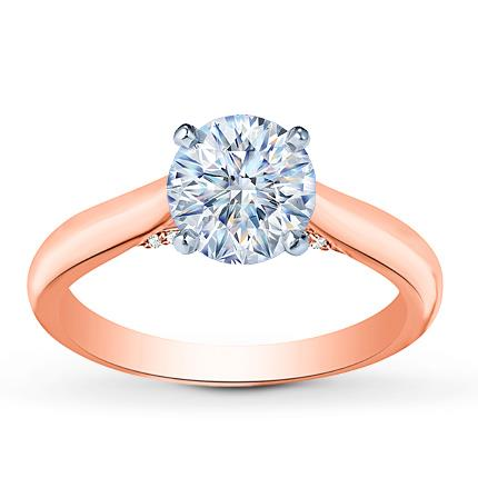diamond ring setting 115 ct tw round cut 14k rosewhite gold - Jared Wedding Rings For Her